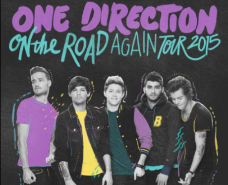 One Direction On The Road Again Tour Poster