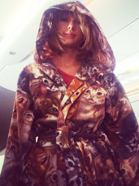 Taylor Swift Cat Dressing Gown