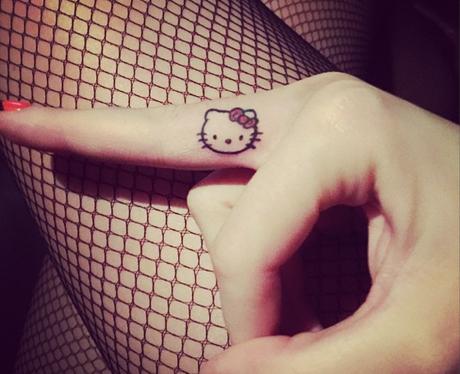 Katy Perry Hello Kitty tattoo