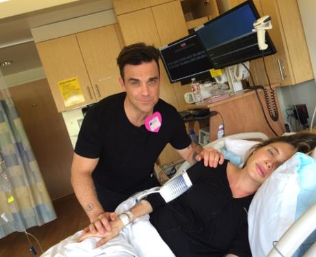 Robbie Williams Ayda Field labour