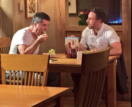 Simon Cowell and Steve Ritchie