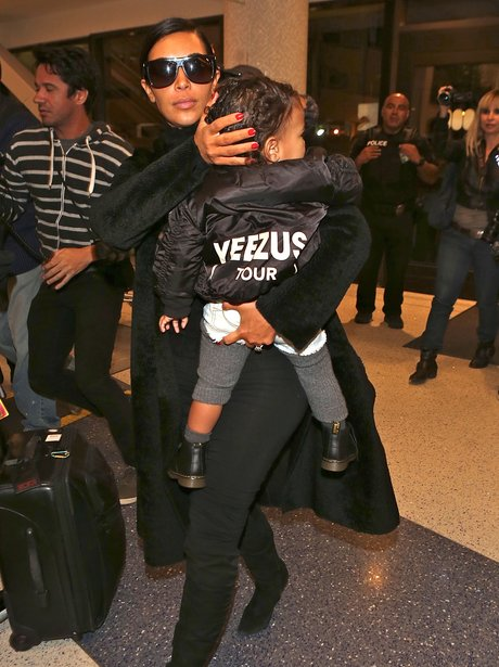 Baby North wearing a Yeezus Tour Jacket