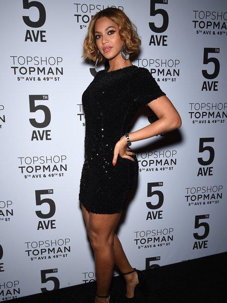 Beyonce attends Topshop Topman dinner