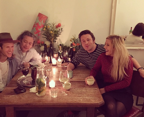 Ellie Goulding, Dougie Poynter and Jamie Oliver