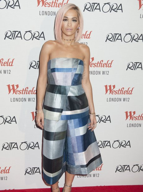 Rita Ora Christmas Lights Switch On