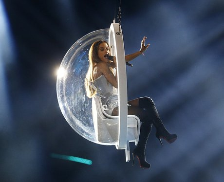 Ariana Grande flying MTV EMAs 2014