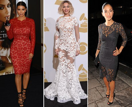 9. Feeling a bit retro? A bit of lace can go a long way, and turn you into  the belle of any ball. - Christmas Outfit Inspiration: 11 Of The Best Celebrity Party Dresses