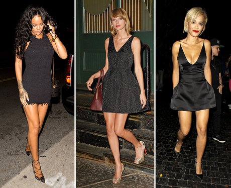 Classic, and always glam, this is a Christmas 'do staple. - Christmas Outfit Inspiration: 11 Of The Best Celebrity Party Dresses