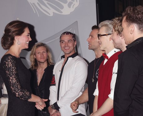 Kate Middleton and McBusted  Royal Variety Perform