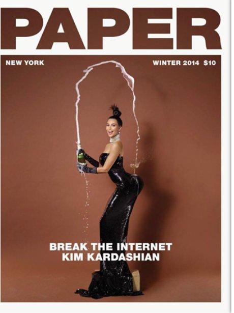 Kim Kardashian Paper Magazine
