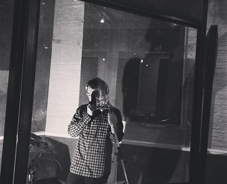 Sam Smith in the studio