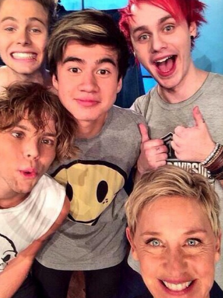5 Seconds Of Summer Ellen DeGeneres Instagram