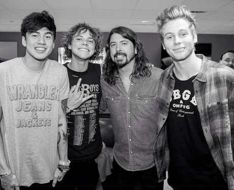 5 Seconds Of Summer Foo Fighters Instagram