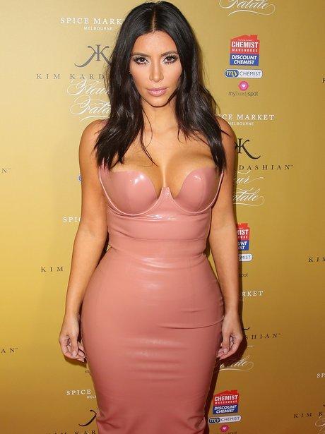 Kim Kardashian Promotes her Fragrance launch