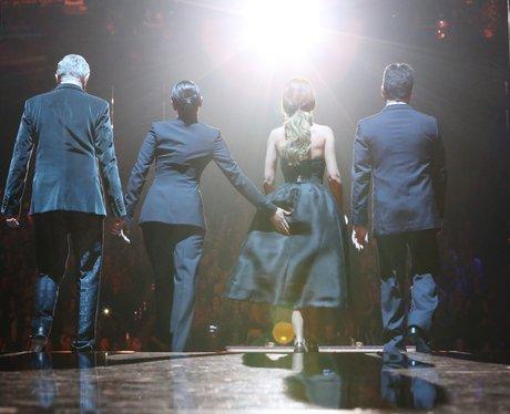 Mel B pinches Cheryls behind on X Factor