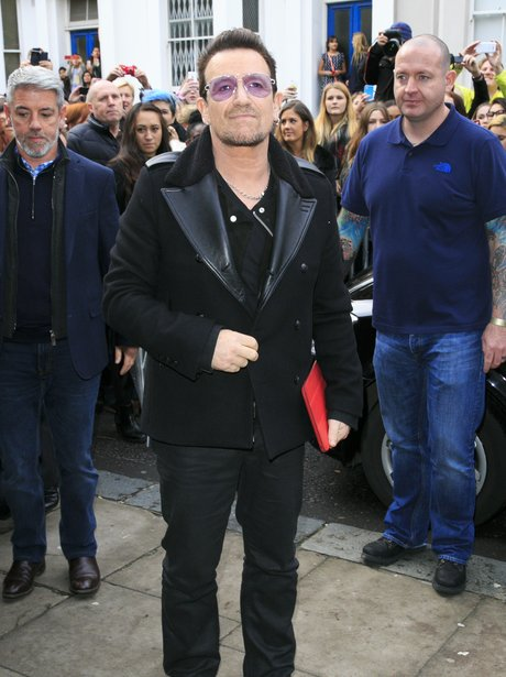 U2 Bono Band Aid 30 recording