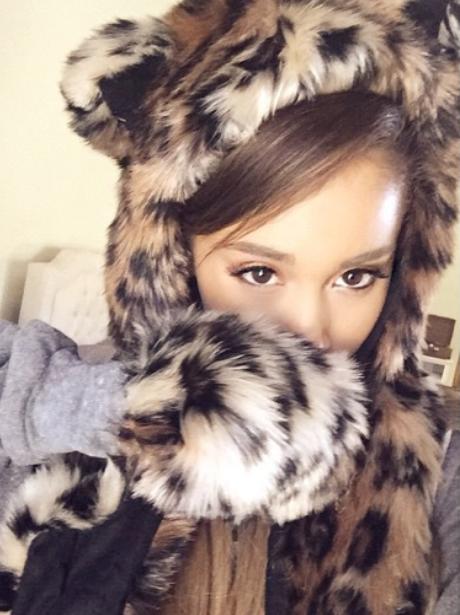Ariana Grande Lepoard Fur