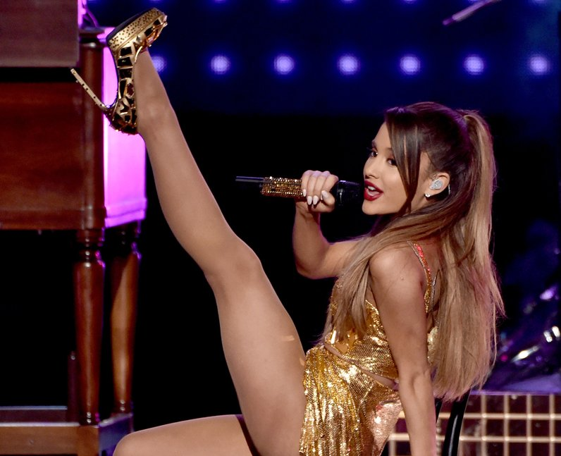 Ariana Grande performs onstage at the 2014 America