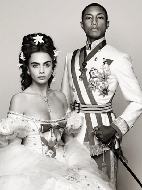 Cara Delevingne and Pharrell Chanel Shoot