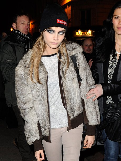 More of a tomboy? Cara gets her fur fix with the help of a