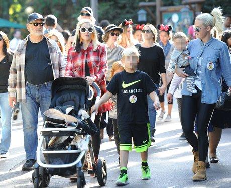 Gwen Stefani at Disneyland with kids