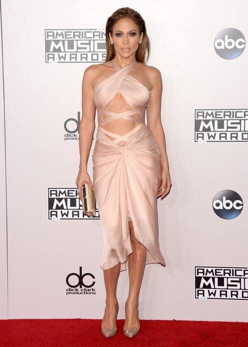J-Lo AMAs 2014 arrival dress