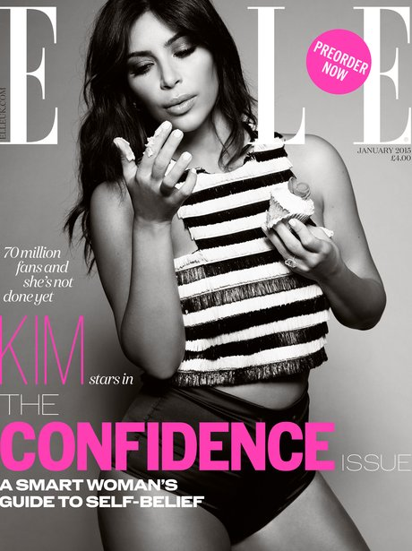 Kim Kardashian covers Elle magazine