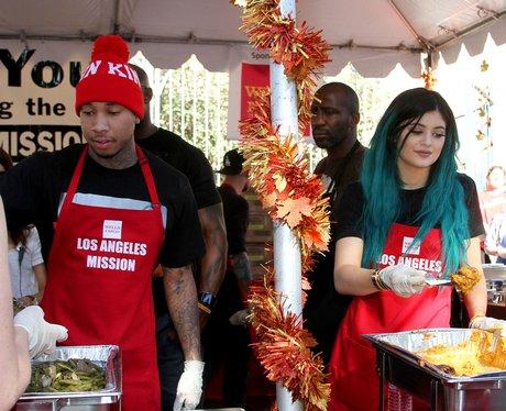 Kylie Jenner and Tyga Feeding Homeless