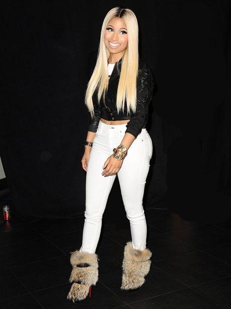 Nicki Minaj fur boots