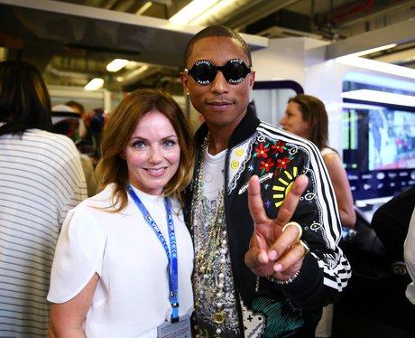 Pharrell and Geri Halliwell grand prix