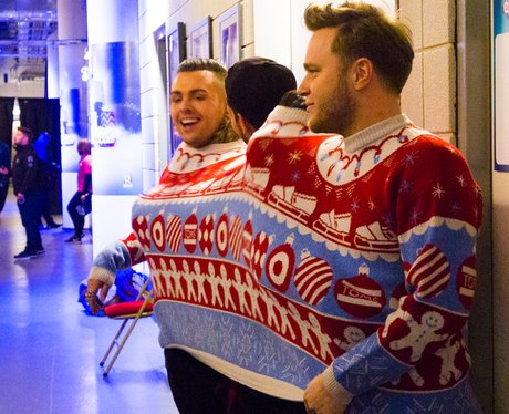 Union J and Olly Murs Backstage Jingle Bell Ball 2