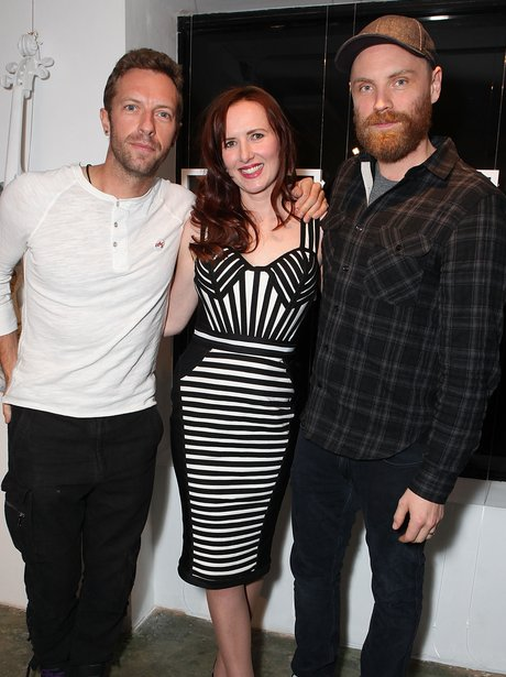 Chris Martin, Mila Furstova and Jonny Buckland