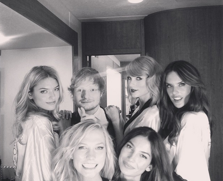 Ed Sheeran Taylor Swift Victoria's Secret Instagra