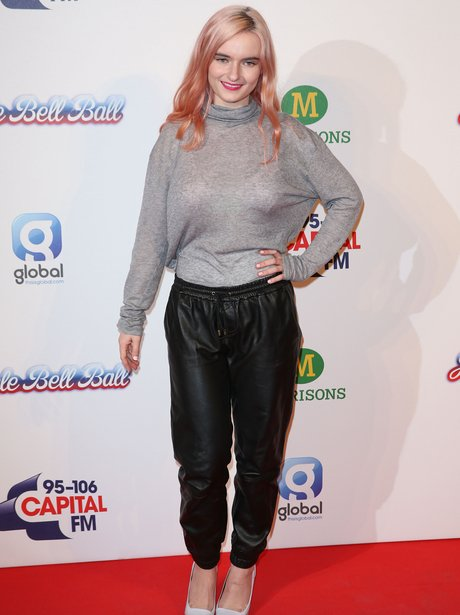 Grace Chatto of Clean Bandit Red Carpet Jingle Bel