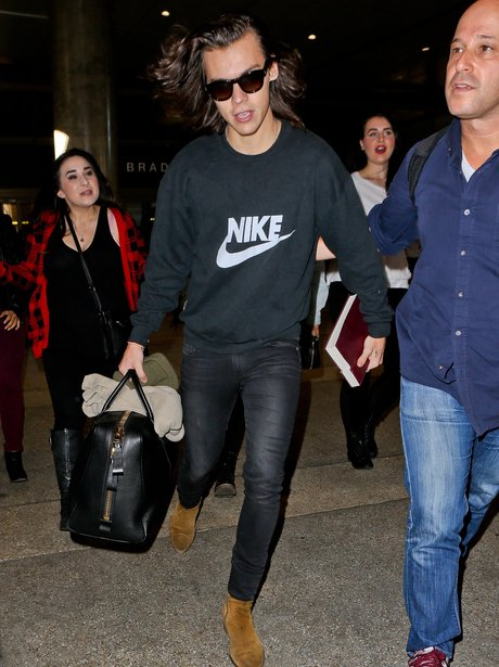 Harry Styles at LAX airport