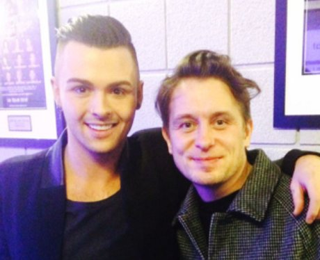 Jaymi Union J and Mark Owen Backstage at the Jingl