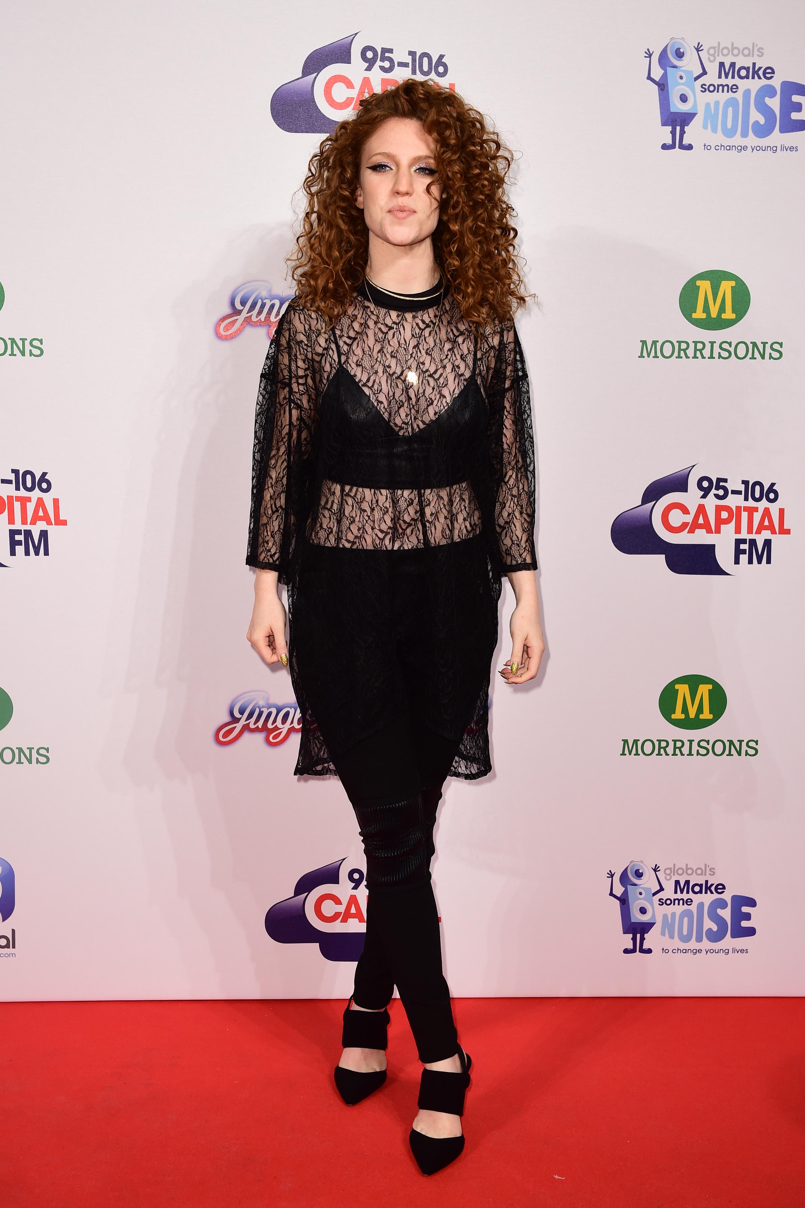 Jess Glynne Red Carpet Jingle Bell Ball 2014