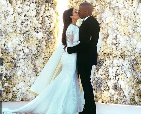 Kim and Kanye wedding picture