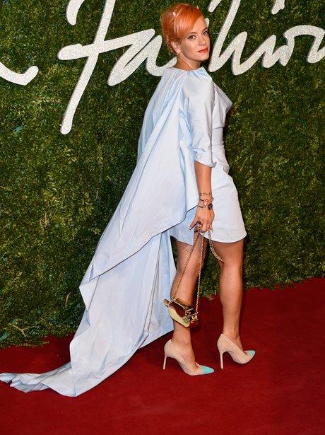 Lily Allen British Fashion Awards 2014
