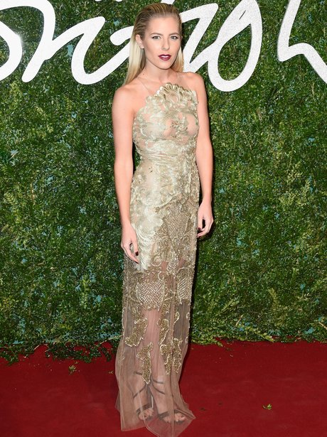 Mollie King British Fashion Awards 2014