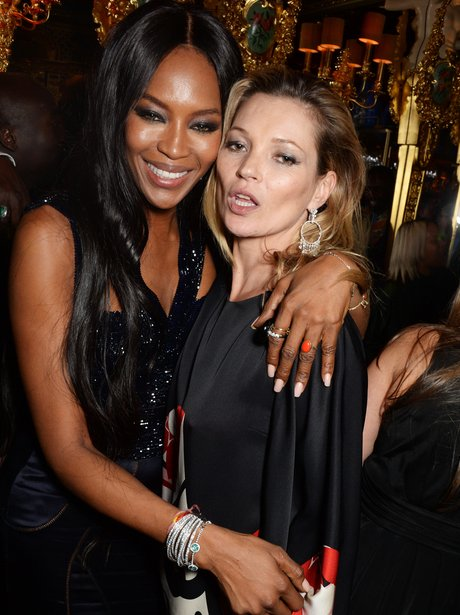 Naomi Cambell and Kate Moss