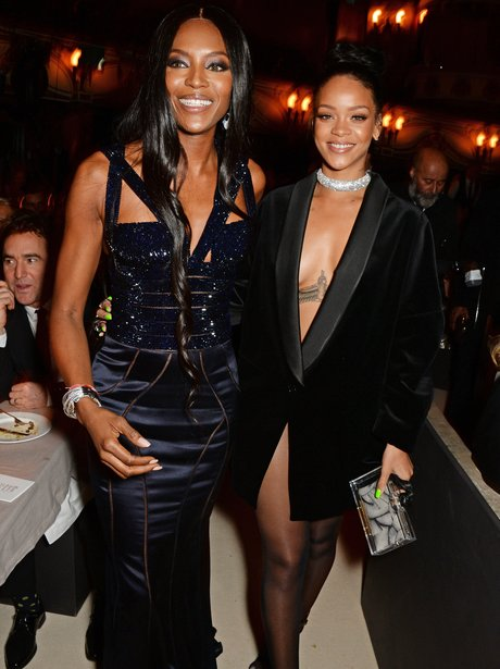 Naomi Cambell and Rihanna Britsh Fashion Awards 20