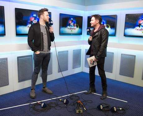 Olly Murs backstage Jingle Bell Ball 2014