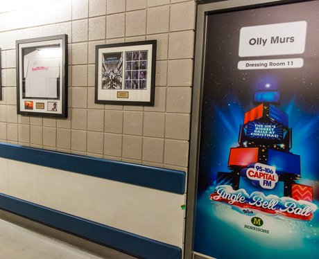 Olly Murs Dressing Room Backstage Jingle Bell Ball