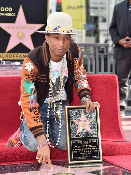 Pharrell Williams star on hollywood walk of fame