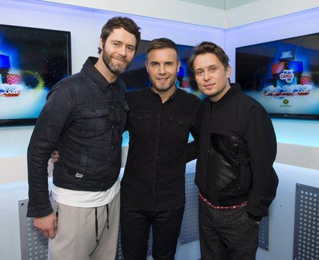 Take That Backstage Jingle Bell Ball 2014