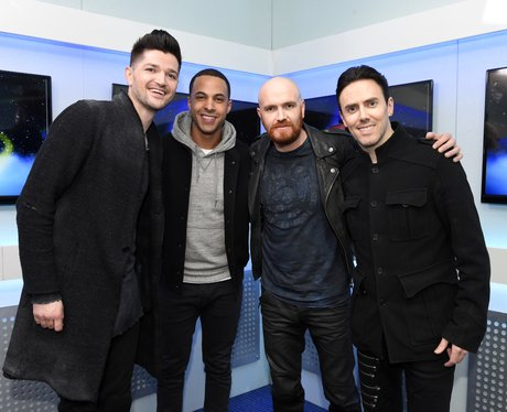The Script and Marvin backstage Jingle Bell Ball 2
