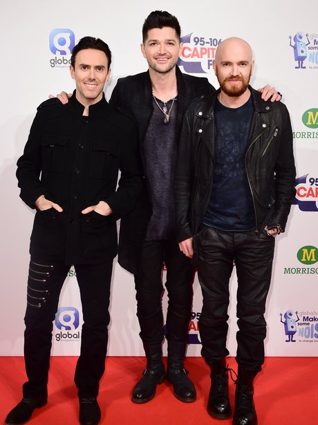 The Script Red Carpet at the Jingle Bell Ball 2014