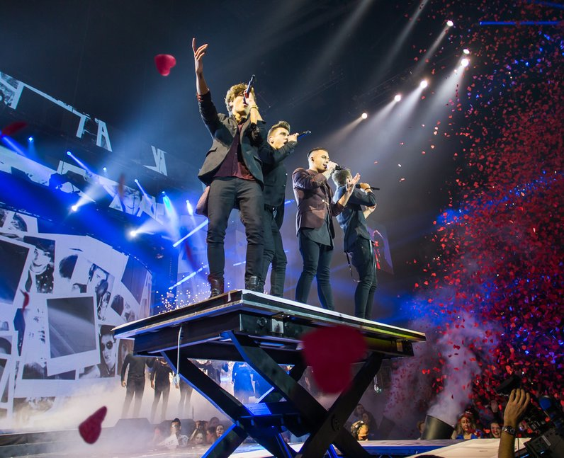 Union J at the Jingle Bell Ball 2014