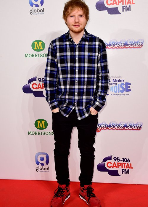 Ed Sheeran Jingle Bell Ball 2014 Red Carpet